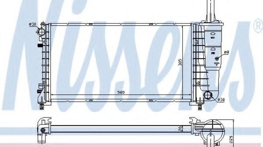 Radiator, racire motor LANCIA MUSA (350) (2004 - 2012) NISSENS 61898 produs NOU