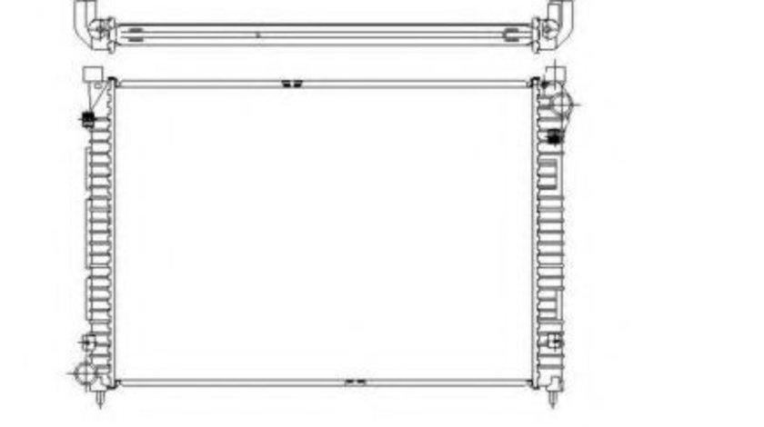 Radiator, racire motor LAND ROVER FREELANDER Soft Top (LN) (1998 - 2006) NRF 55444 piesa NOUA