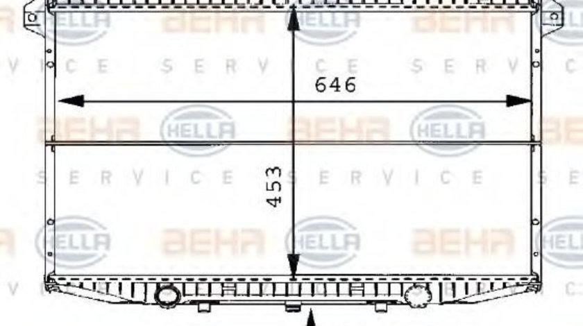 Radiator, racire motor NISSAN TERRANO II (R20) (1992 - 2007) HELLA 8MK 376 706-491 piesa NOUA