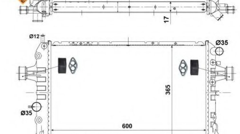 Radiator, racire motor OPEL ASTRA H GTC (L08) (2005 - 2016) NRF 53441 piesa NOUA
