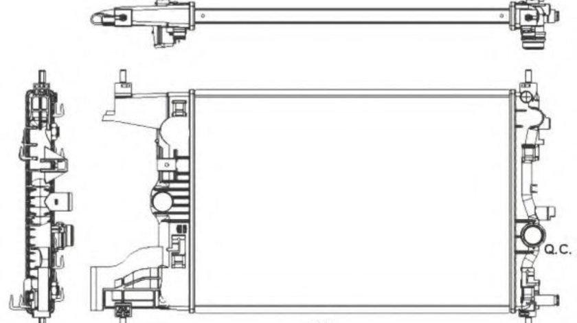 Radiator, racire motor OPEL ZAFIRA TOURER C (P12) (2011 - 2016) NRF 53155 piesa NOUA