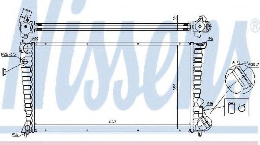 Radiator, racire motor PEUGEOT 306 Hatchback (7A, 7C, N3, N5) (1993 - 2003) NISSENS 61326A produs NOU