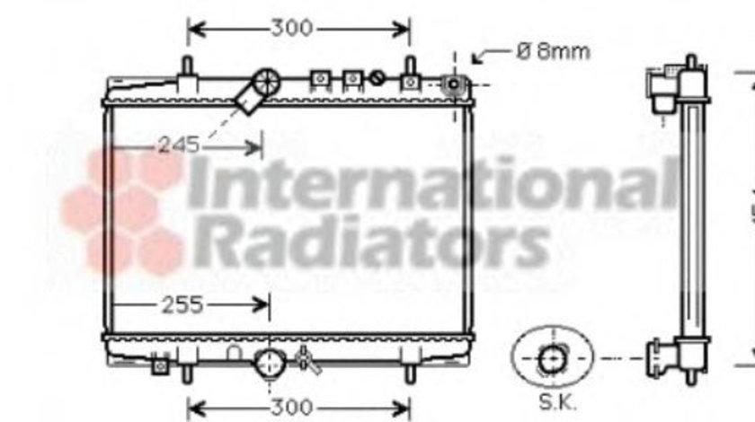 Radiator, racire motor PEUGEOT 607 (9D, 9U) (2000 - 2016) VAN WEZEL 40002202 piesa NOUA