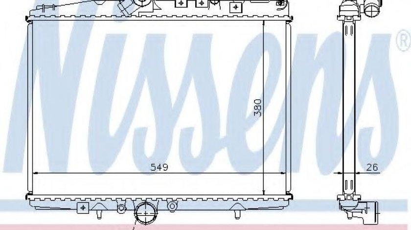 Radiator, racire motor PEUGEOT 607 (9D, 9U) (2000 - 2016) NISSENS 61294A produs NOU
