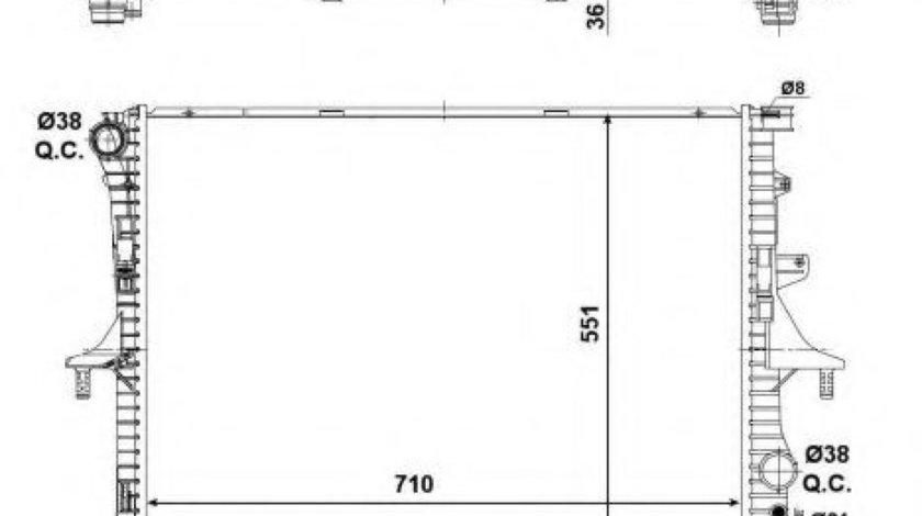 Radiator, racire motor PORSCHE CAYENNE (9PA, 955) (2002 - 2010) NRF 53798 piesa NOUA