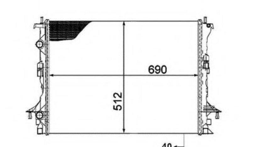 Radiator, racire motor RENAULT ESPACE IV (JK0/1) (2002 - 2015) NRF 53820 piesa NOUA