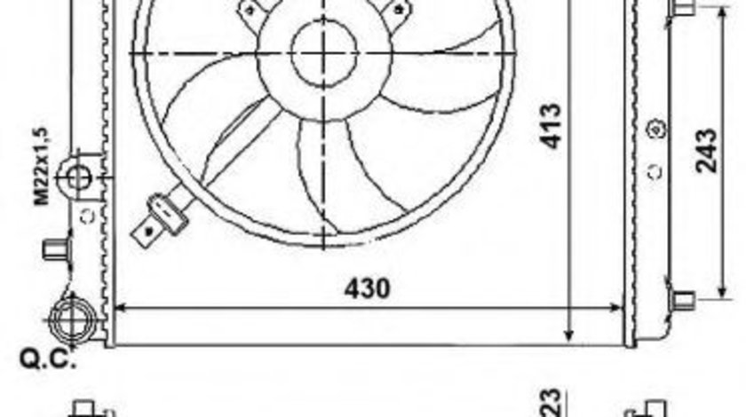 Radiator, racire motor SKODA FABIA I (6Y2) (1999 - 2008) NRF 53021 piesa NOUA