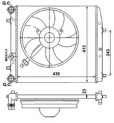 Radiator, racire motor SKODA FABIA II (2006 - 2014) NRF 53021 piesa NOUA