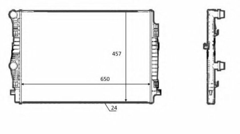 Radiator, racire motor SKODA OCTAVIA III (5E3) (2012 - 2016) NRF 58392 piesa NOUA