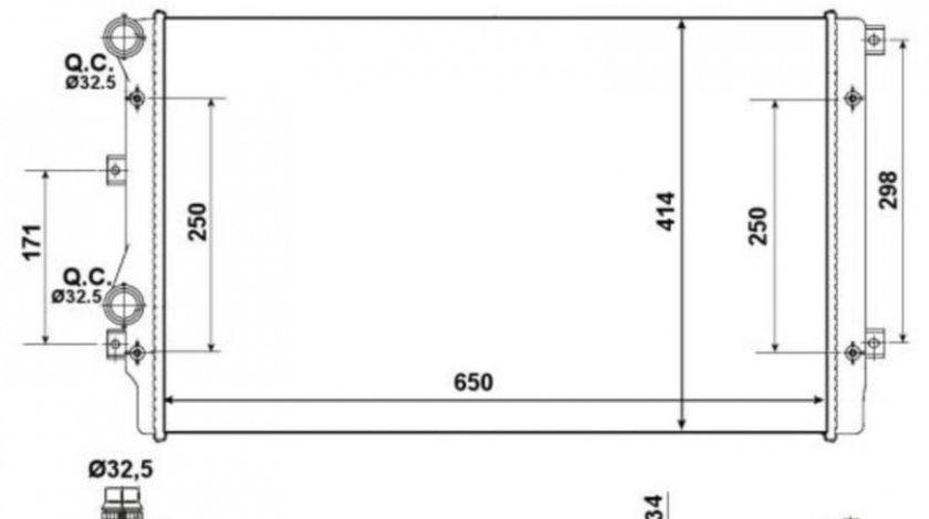 Radiator, racire motor Volkswagen Passat CC (2011->)[358] #3 01103127