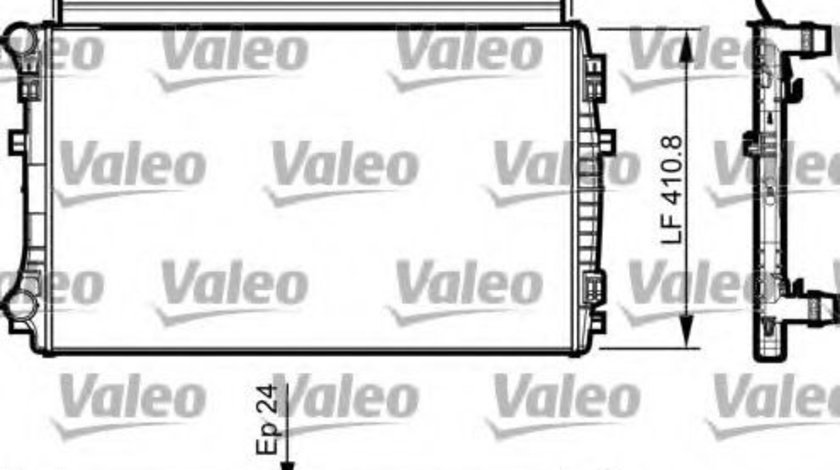 Radiator, racire motor VW GOLF VII (5G1, BE1) (2012 - 2016) VALEO 735558 piesa NOUA
