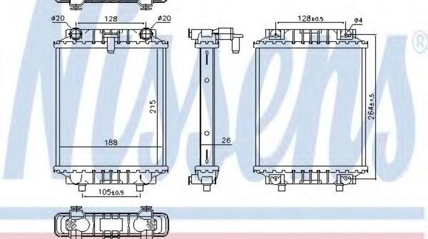 Radiator, racire motor VW GOLF VII Variant (BA5) (2013 - 2016) NISSENS 60372 piesa NOUA