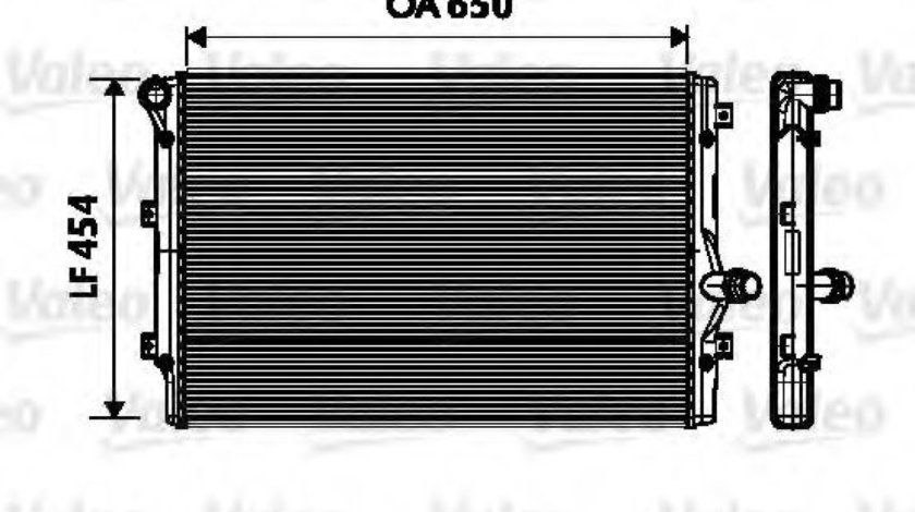 Radiator, racire motor VW TOURAN (1T1, 1T2) (2003 - 2010) VALEO 734333 piesa NOUA