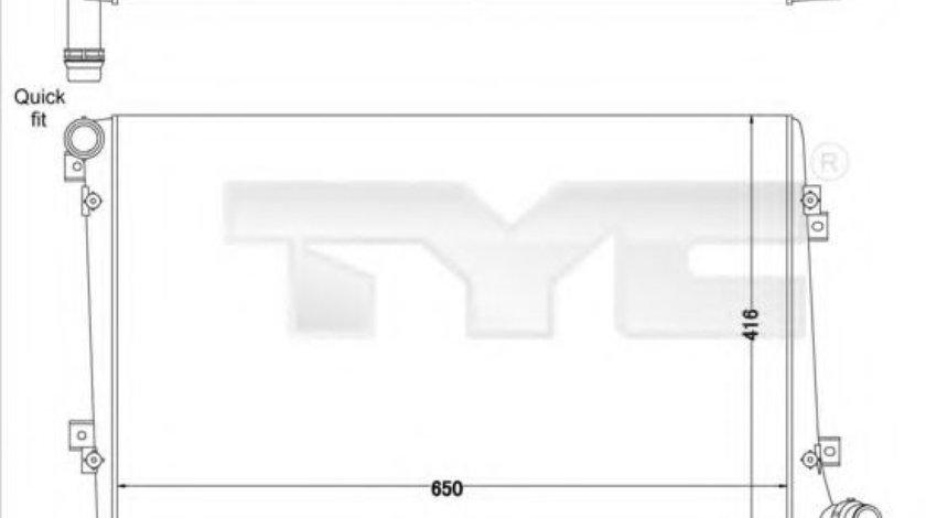 Radiator, racire motor VW TOURAN (1T1, 1T2) (2003 - 2010) TYC 737-0063-R piesa NOUA