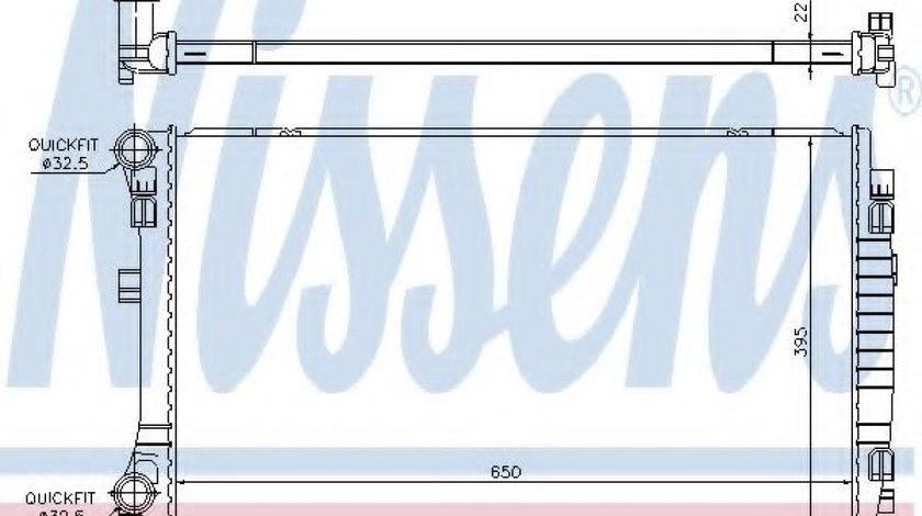 Radiator, racire motor VW TOURAN (5T1) (2015 - 2016) NISSENS 65303 piesa NOUA