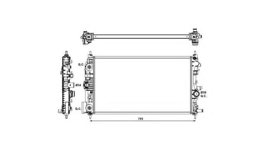 Radiator racire Opel Zafira C (2011->)[P12] #2 121153