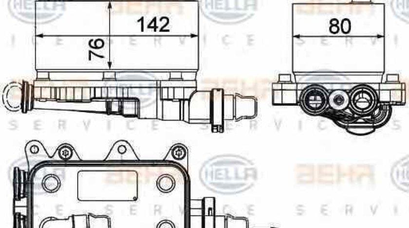 Radiator racire ulei cutie de viteze automata BMW X3 E83 HELLA 8MO 376 725-101