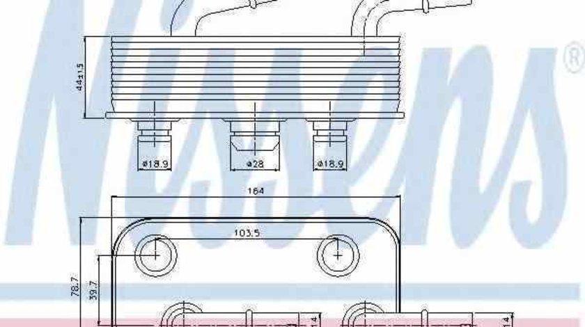 Radiator racire ulei, cutie de viteze automata BMW X3 (E83) NISSENS 90657