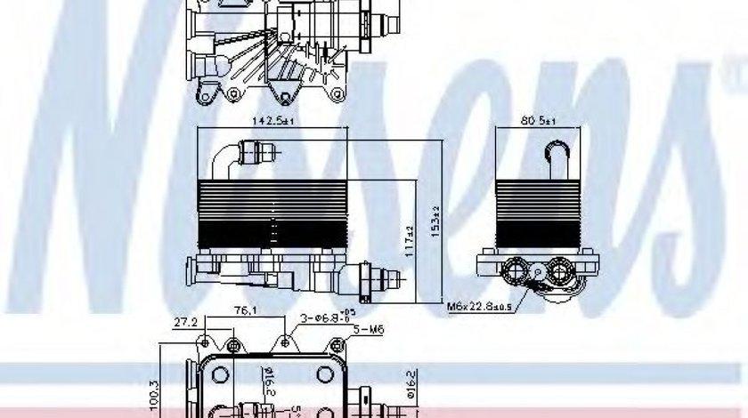 Radiator racire ulei, cutie de viteze automata BMW Seria 5 (E60) (2003 - 2010) NISSENS 90673 piesa NOUA