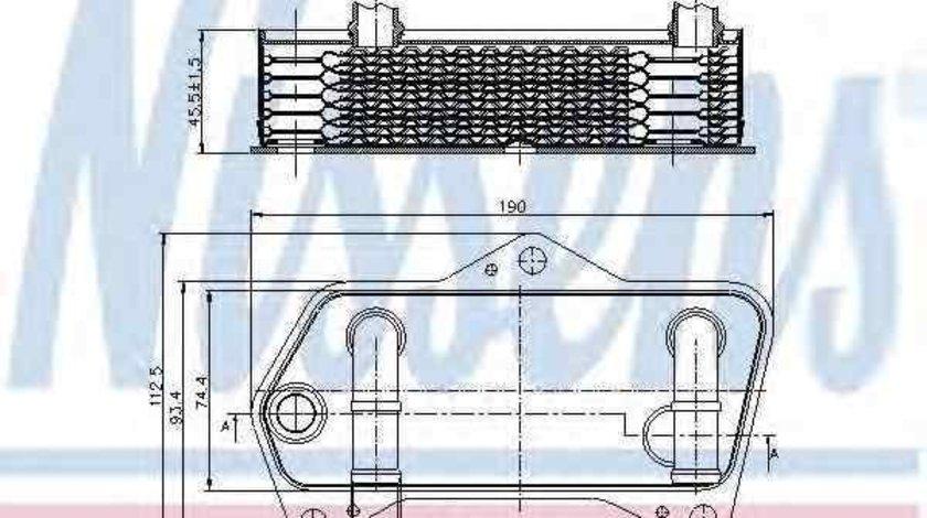 Radiator racire ulei, cutie de viteze automata VW TOURAN (1T3) NISSENS 90653
