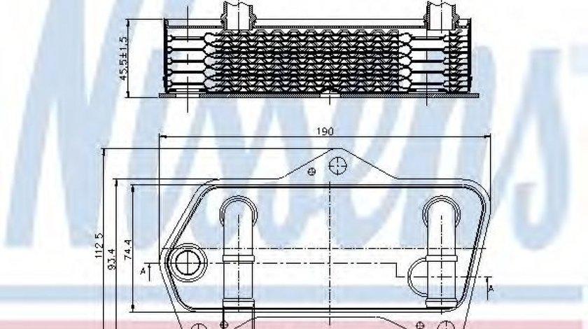 Radiator racire ulei, cutie de viteze automata VW PASSAT CC (357) (2008 - 2012) NISSENS 90653 produs NOU