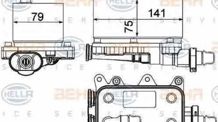 Radiator racire ulei cutie de viteze automata LAND ROVER RANGE ROVER III LM HELLA 8MO 376 725-211