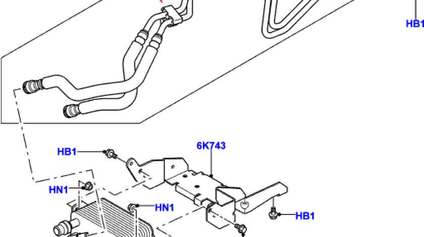 Radiator racire ulei cutie viteza automatica Range Rover Sport LAND ROVER AM UBC500101