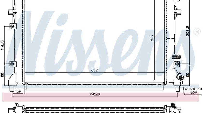 Radiator temperatura scazuta intercooler (transmisie automata/transmisie manuala, intercooler ) SEAT ALTEA, ALTEA XL, LEON, TOLEDO III 1.2/1.4 dupa 2007