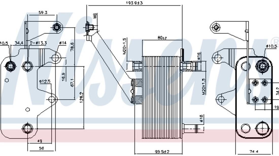Radiator ulei cutie automata (167x81x74) LAND ROVER FREELANDER 2.0 d intre 2000-2006