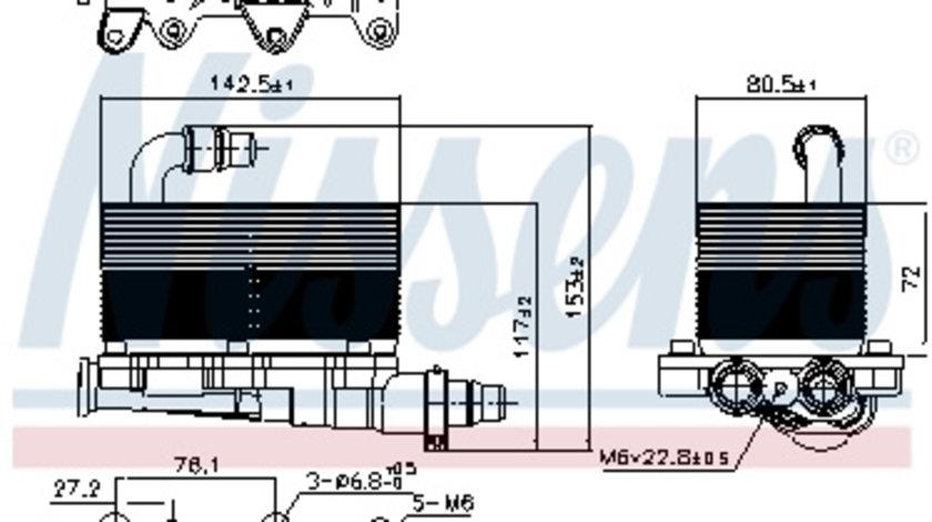 Radiator ulei cutie automata (automat) BMW Seria 5 (E60), 5 (E61), 6 (E63), 6 (E64), 7 (E65, E66, E67), X3 (E83) 2.0 d-4.4D intre 2002-2010