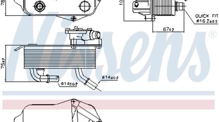 Radiator ulei cutie automata BMW Seria 1 (E81), 1 (E82), 1 (E87), 1 (E88), 3 (E90), 3 (E91), 3 (E92), 3 (E93), X1 (E84) 1.6-3.0 d intre 2004-2015