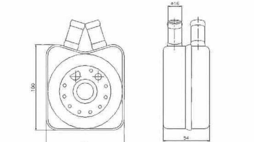Radiator ulei ulei motor AUDI 80 8C B4 Producator NRF 31304
