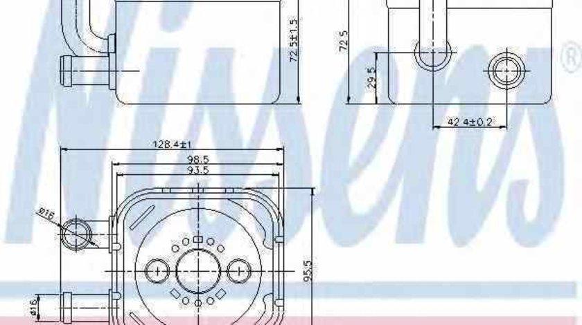 Radiator ulei ulei motor AUDI A4 8E2 B6 Producator NISSENS 90654