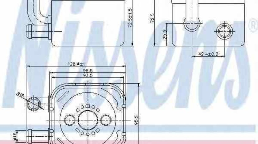 Radiator ulei ulei motor AUDI A4 Avant 8E5 B6 Producator NISSENS 90654
