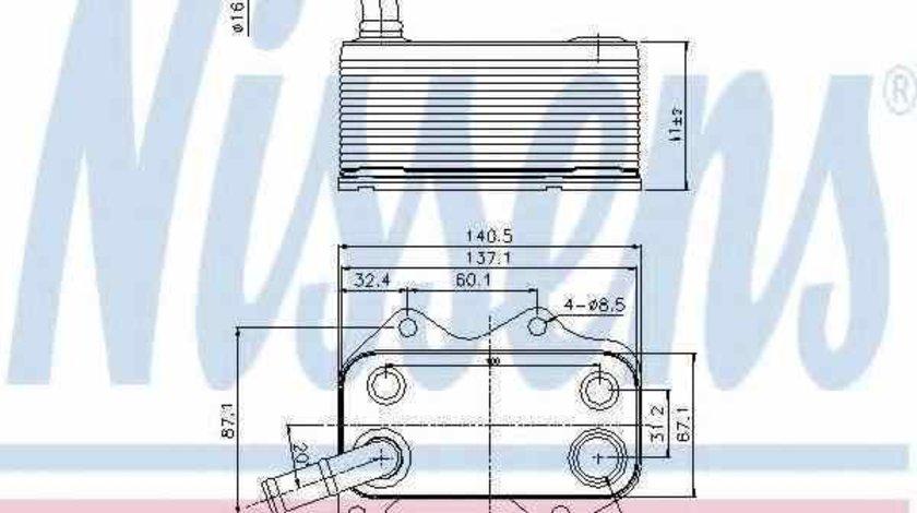 Radiator ulei ulei motor AUDI A4 Cabriolet 8H7 B6 8HE B7 Producator NISSENS 90660