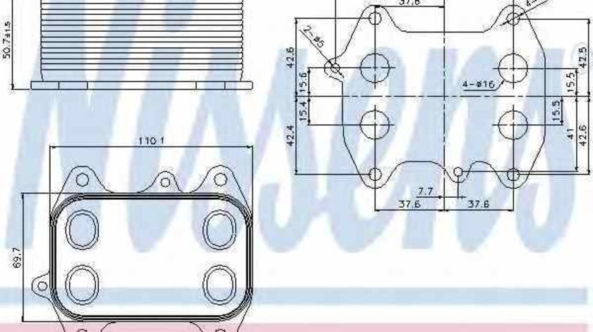 Radiator ulei ulei motor AUDI A6 4G2 C7 4GC NISSENS 90681