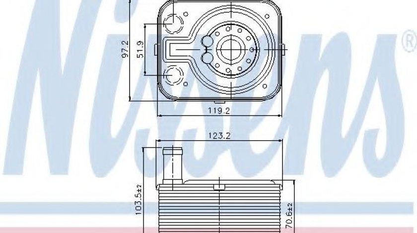 Radiator ulei, ulei motor AUDI A6 Avant (4F5, C6) (2005 - 2011) NISSENS 90655 - produs NOU