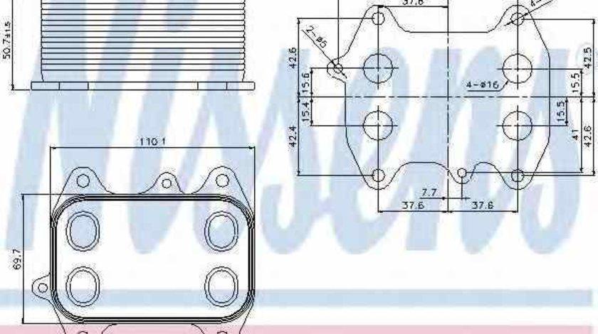 Radiator ulei ulei motor AUDI A6 Avant 4G5 C7 4GD NISSENS 90681