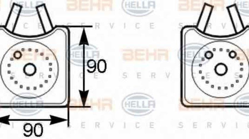 Radiator ulei ulei motor AUDI COUPE 89 8B HELLA 8MO 376 778-001