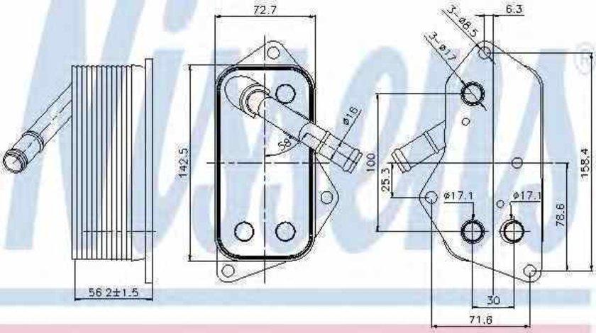 Radiator ulei ulei motor BMW 7 F01 F02 F03 F04 Producator NISSENS 90689
