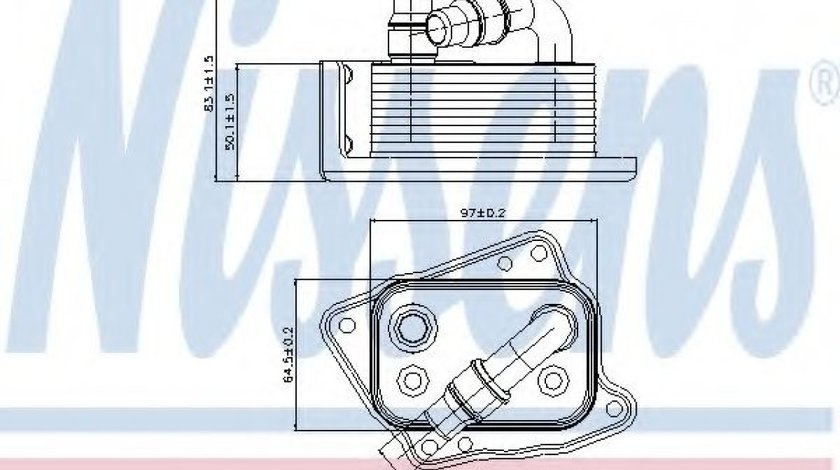 Radiator ulei, ulei motor BMW Seria 1 (E87) (2003 - 2013) NISSENS 90688 piesa NOUA