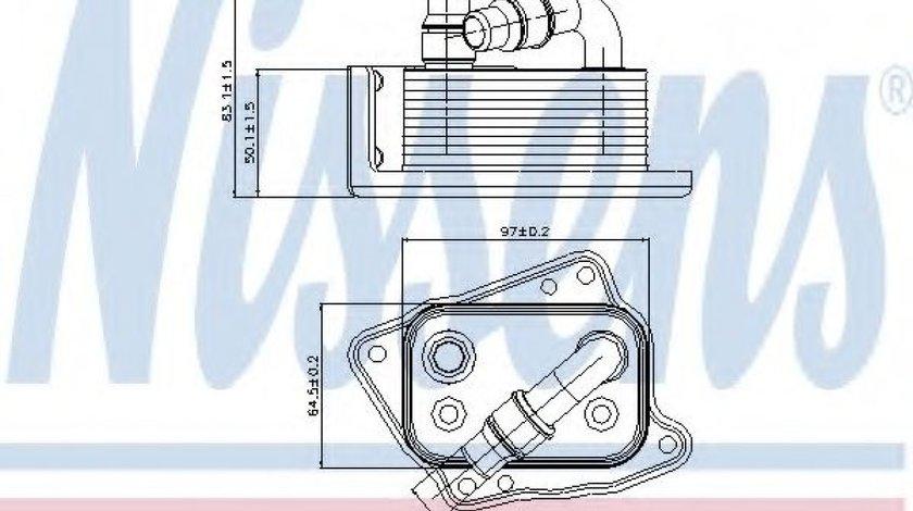 Radiator ulei, ulei motor BMW Seria 3 Cabriolet (E93) (2006 - 2013) NISSENS 90688 piesa NOUA