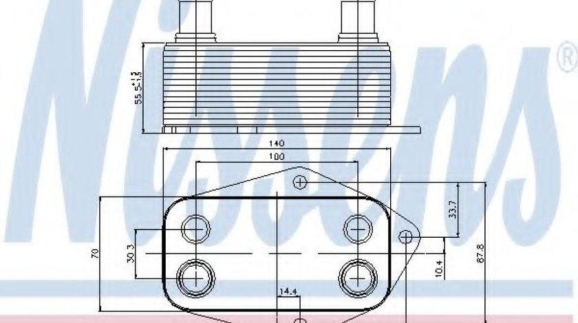 Radiator ulei, ulei motor BMW Seria 5 (E39) (1995 - 2003) NISSENS 90675 piesa NOUA