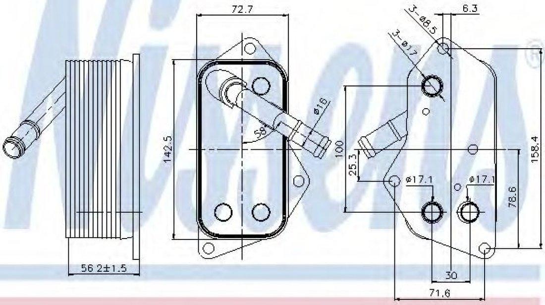 Radiator ulei, ulei motor BMW Seria 5 (E60) (2003 - 2010) NISSENS 90689 piesa NOUA