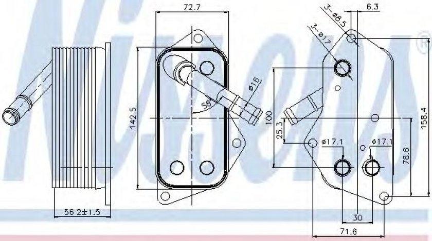 Radiator ulei, ulei motor BMW Seria 5 (F10, F18) (2009 - 2016) NISSENS 90689 piesa NOUA