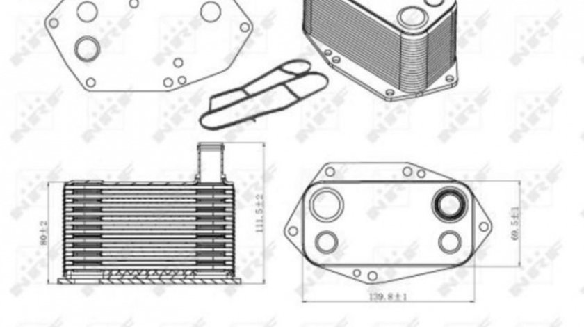 Radiator ulei, ulei motor BMW X5 (1999-2006) [E53] #2 07024012