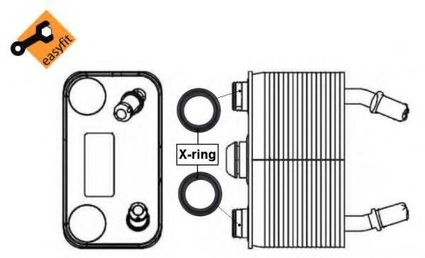 Radiator ulei, ulei motor BMW X5 (E53) (2000 - 2006) NRF 31076 piesa NOUA