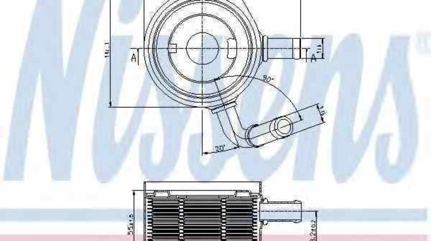 Radiator ulei ulei motor DACIA LOGAN EXPRESS FS NISSENS 90669