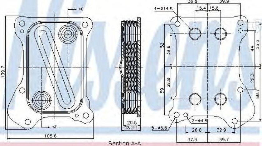 Radiator ulei, ulei motor FIAT 500L (199) (2012 - 2016) NISSENS 90700 produs NOU