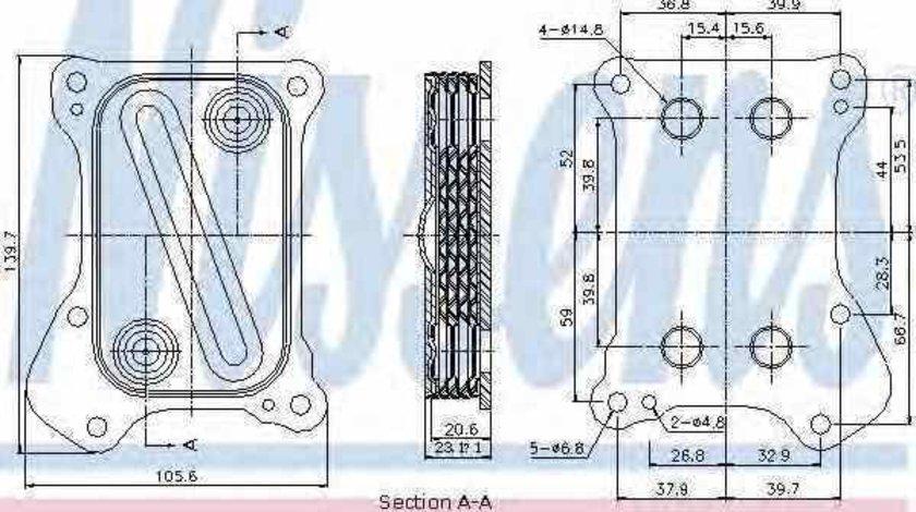 Radiator ulei ulei motor FIAT DOBLO Cargo 223 Producator NISSENS 90700